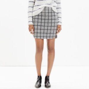 Madewell mini skirt in grid